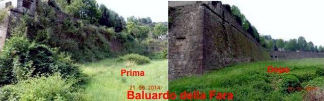 160414 Baluardo della Fara - prima e dopo