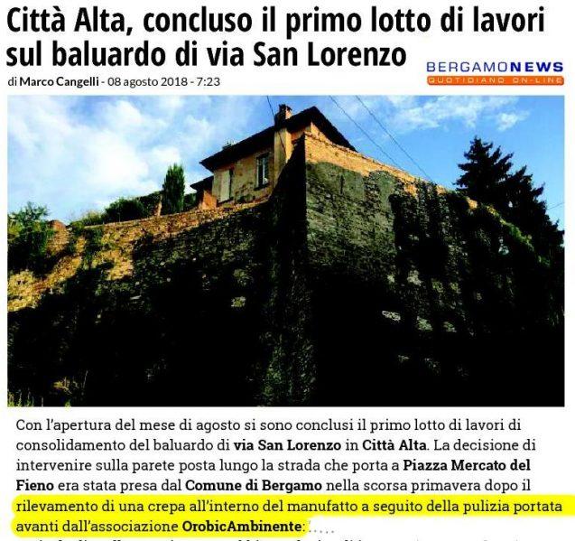 180808 lavori a san Francesco -bgnews