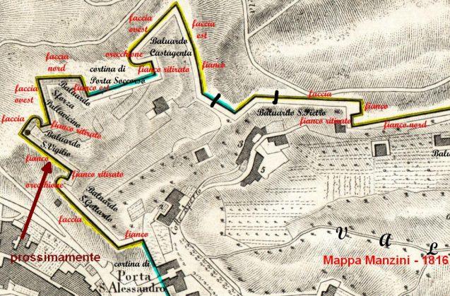 1816 Bergamo baluardo S_Vigilio