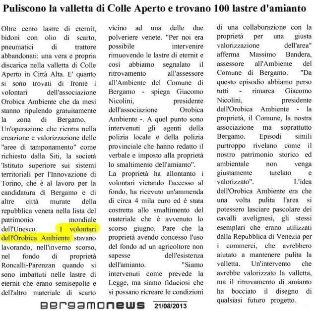 48 G -130821 amianto colle aperto -bgnews