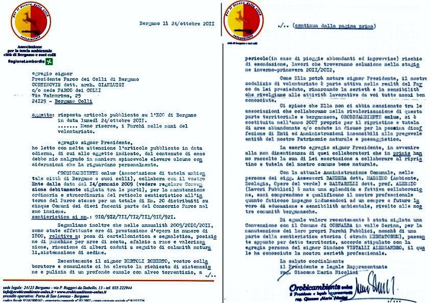 52 M -111024 lettera aperta Parco Colli