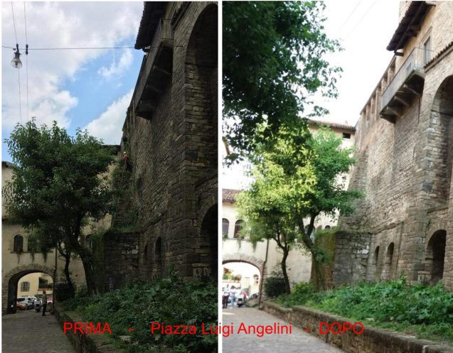 Piazza Angelini - prima e dopo