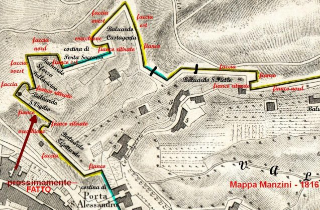 1816 Bergamo baluardo S_Vigilio -fatto